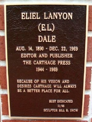 Eliel Lanyon (E.L.) Dale Marker image. Click for full size.