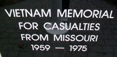 Vietnam Memorial For Casualties From Missouri Marker image. Click for full size.