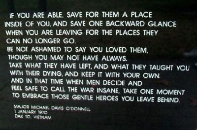 Vietnam Memorial For Casualties From Missouri Poem image. Click for full size.