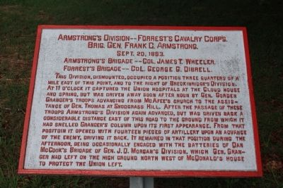 Armstrong's Division - Forrest's Cavalry Corps. Marker image. Click for full size.