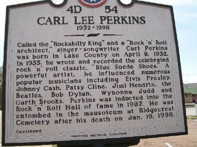 Carl Lee Perkins Marker image. Click for full size.