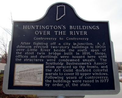 Huntington's Buildings Over the River image. Click for full size.