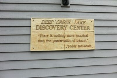 Deep Creek Lake Discovery Center Marker image. Click for full size.