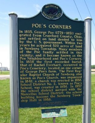 Poe's Corners Marker image. Click for full size.