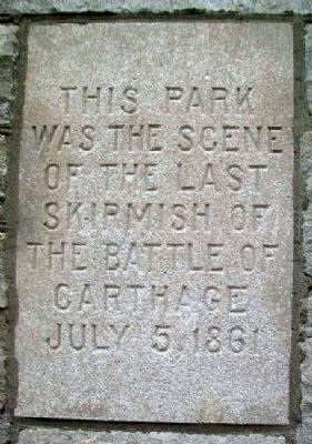 Last Skirmish of the Battle of Carthage Marker image. Click for full size.