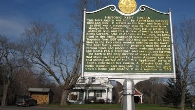 Historic Kent Tavern Marker image. Click for full size.