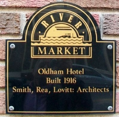 Oldham Hotel Marker image. Click for full size.