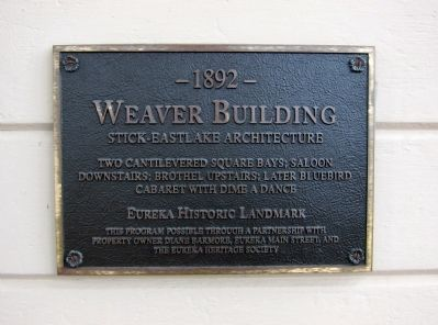 Weaver Building Marker image. Click for full size.