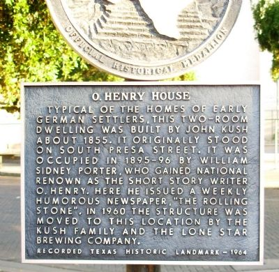 O. Henry House Marker image. Click for full size.