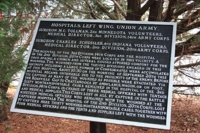Hospitals, Left Wing, Union Army. Marker image. Click for full size.