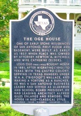 The Oge House Marker image. Click for full size.
