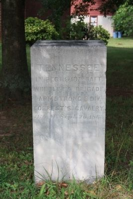 1st Regiment & 18th Battalion Tennessee Cavalry Marker image. Click for full size.