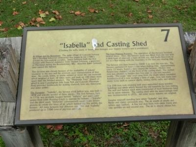 """Isabella"" and Casting Shed Marker image. Click for full size."