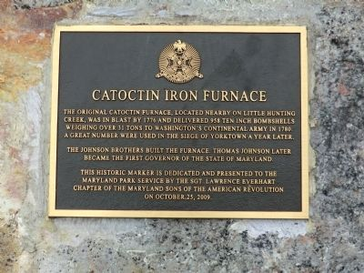Catoctin Iron Furnace Marker image. Click for full size.