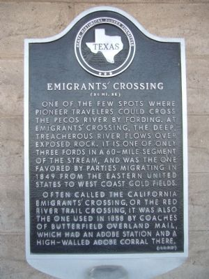 Emigrants' Crossing Marker image. Click for full size.