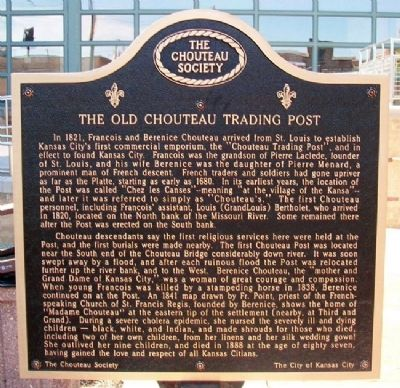 The Old Chouteau Trading Marker (Side A) image. Click for full size.