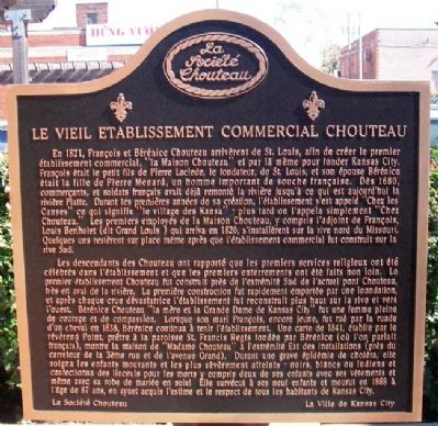 Le Vieil Etablissement Commercial Chouteau Marker (Side B) image. Click for full size.