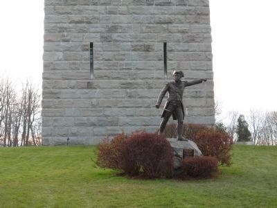 Gen. John Stark at the Bennington Battle Monument image. Click for full size.
