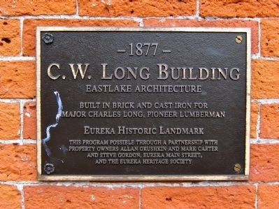 C.W. Long Building Marker image. Click for full size.