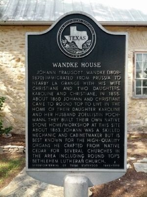 Wandke House Marker image. Click for full size.