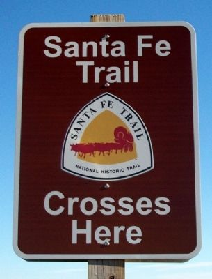 Santa Fe National Historic Trail Marker image. Click for full size.