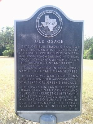 Old Osage Marker image. Click for full size.