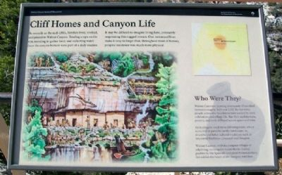 Cliff Homes and Canyon Life Marker image. Click for full size.