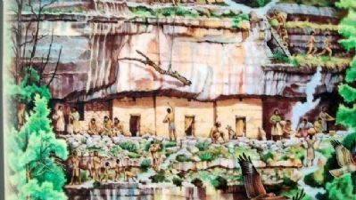 Drawing on Cliff Homes and Canyon Life Marker image. Click for full size.