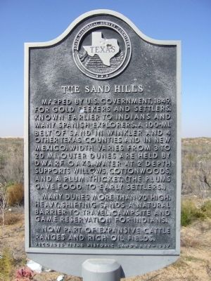 The Sand Hills Marker image. Click for full size.