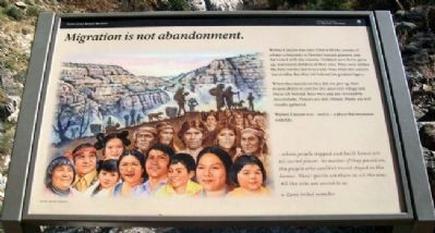 Migration is not abandonment. Marker image. Click for full size.