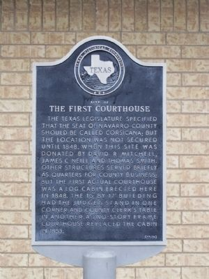 Site of the First Courthouse Marker image. Click for full size.
