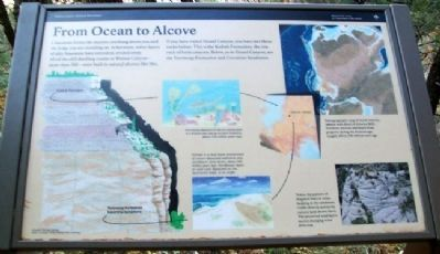 From Ocean to Alcove Marker image. Click for full size.