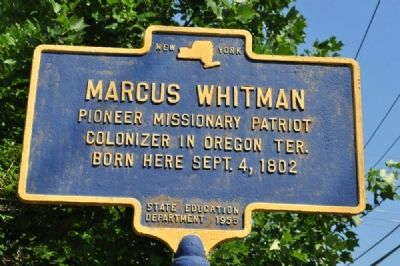 Marcus Whitman Marker image. Click for full size.