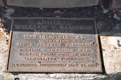 Admiral William T. Sampson Memorial Marker image. Click for full size.