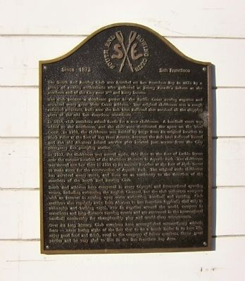 The South End Rowing Club Marker image. Click for full size.
