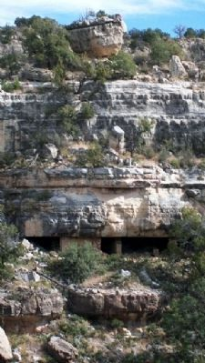 Rooms Along Outer East Wall of Walnut Canyon image. Click for full size.