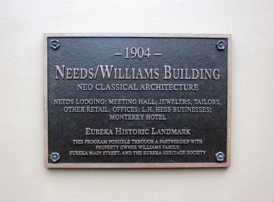 Needs/Williams Building Marker image. Click for full size.