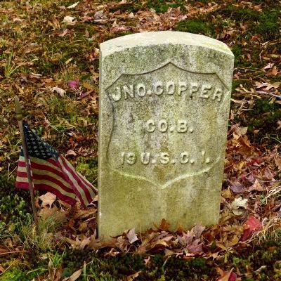 Headstone of John Copper, Company B, 19th United States Colored Infantry image. Click for full size.
