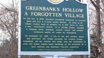 Greenbank's Hollow Marker image. Click for full size.