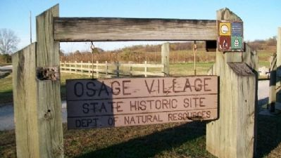 Osage Village State Historic Site Sign image. Click for full size.