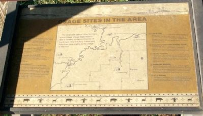 Osage Sites in the Area Marker image. Click for full size.