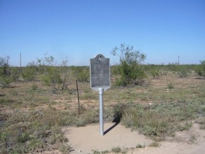 Shafter Lake Townsite Marker image. Click for full size.