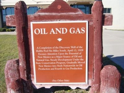 Oil and Gas Marker (front side) image. Click for full size.