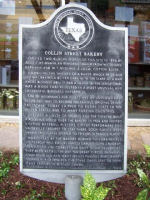 Collin Street Bakery Marker image. Click for full size.