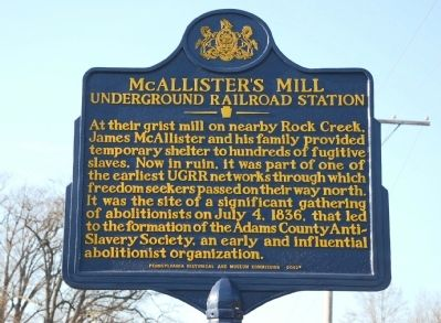 McAllister's Mill Marker image. Click for full size.