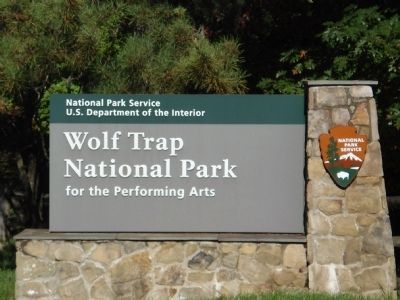Wolf Trap National Park for the Performing Arts Marker image. Click for full size.