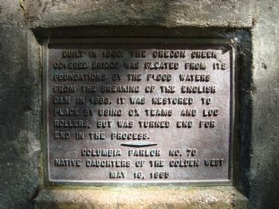 Oregon Creek Covered Bridge Marker image. Click for full size.