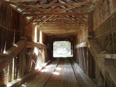 Oregon Creek Covered Bridge image. Click for full size.