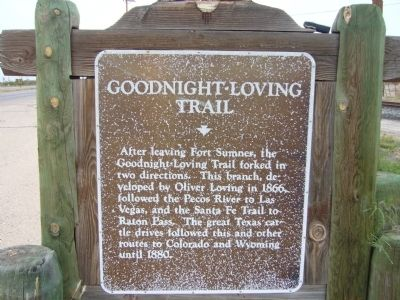 Goodnight-Loving Trail Marker image. Click for full size.