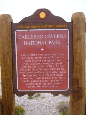 Carlsbad Cavern National Park Marker image. Click for full size.